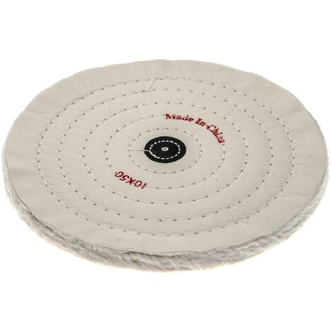 vhbw Polishing Pad for all Standard Angle Grinders, Screwdrivers - Spare Pad with 24.5cm Diameter, cream, cotton