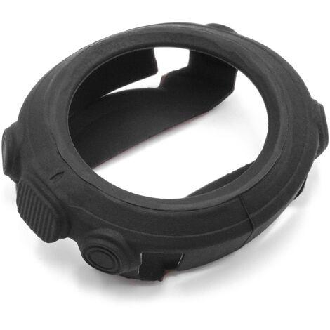 vhbw Protective Case Cover compatible with Garmin D2 Bravo, Fenix, Fenix 2, Quatix, Tactix Fitnesstracker - black, silicone