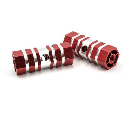 vhbw Repose-pieds Cale-pieds Axle Pegs Stunt Pegs rouge our vélo, BMX, Bike