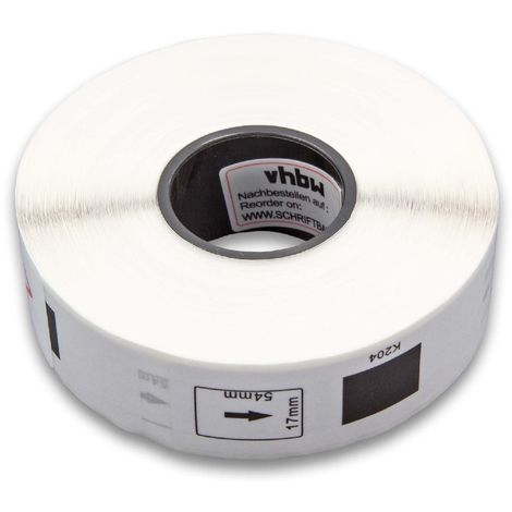 vhbw roll labels for Brother P-Touch QL-560, QL-560VP, QL-570, QL-580, QL-580N, QL-650, QL-650TD, QL-700, QL-710 replaces DK-11204.