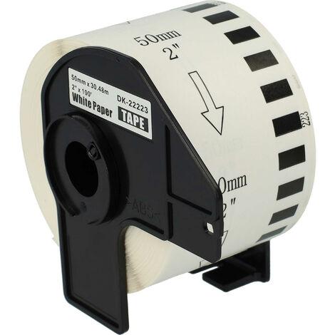 vhbw roll labels premium 50mm for Brother P-Touch QL-1050, QL-1050N, QL-1060, QL-1060N, QL-500, QL-500A, QL-500BS replaces DK-22223.