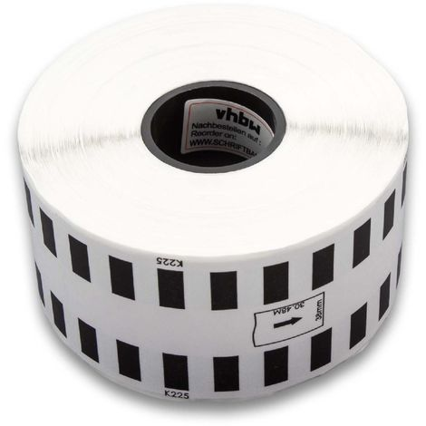 vhbw roll labels sticker endlos for Brother P-Touch QL-710, QL-710W, QL-720, QL-720NW replaces DK-22225.