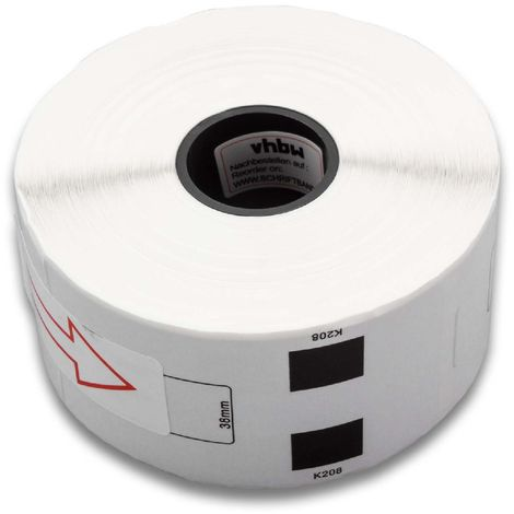 vhbw roll labels sticker for Brother P-Touch QL-1050, QL-1050N, QL-1060, QL-1060N, QL-500, QL-500A, QL-500BS, QL-500BW, QL-550 as DK-11208.