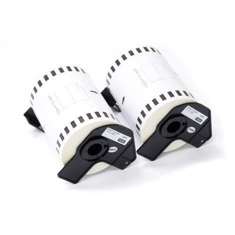 vhbw roll of labels suitable for Brother P-Touch QL-1050, QL-1050N, QL-1060, QL-1060N, QL-500, QL-500A, QL-500BS label printer, replaces DK-22243.