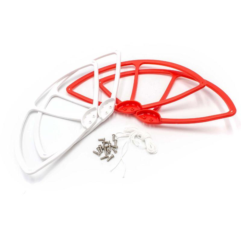 Image of vhbw Rotor Schutz Abdeckung weiß / rot für Drohne Multicopter Quadrocopter DJI Phantom FC40, 1, 2, 2 Vision, 2 Vision plus, 3 Advanced, 3 Professional