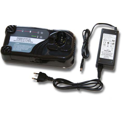 vhbw Schnellladegerät mit Netzteil passend für Hitachi / HiKOKI Werkzeug Akku, z.B. CD4D, CL 13D, CL13D, DB 12DM2, DH 15DV, DH15D2, DH15DV, DN 12DY