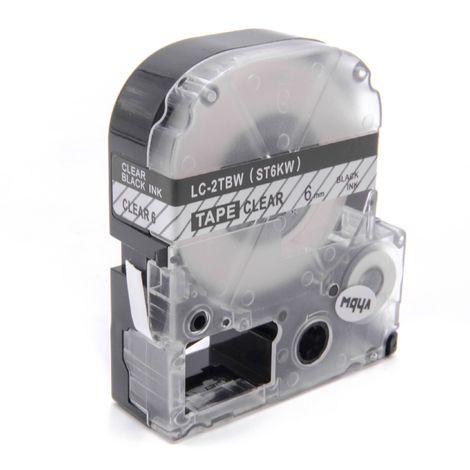 SR750 wie LC-6YBW SR950 vhbw Kassette Patronen Schriftband 24mm f/ür KingJim SR6700D SR3900P SC24YW.