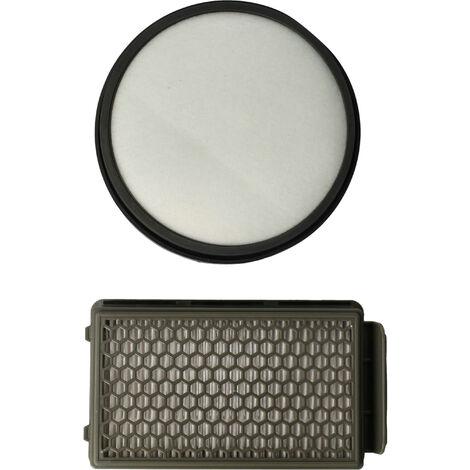 vhbw Set de 2 filtros aspiradora para Moulinex MO3718PA, MO3723PA, MO3751PA, MO3774PA, MO3786PA Aspirador hepa, filtro de aire de escape, ...
