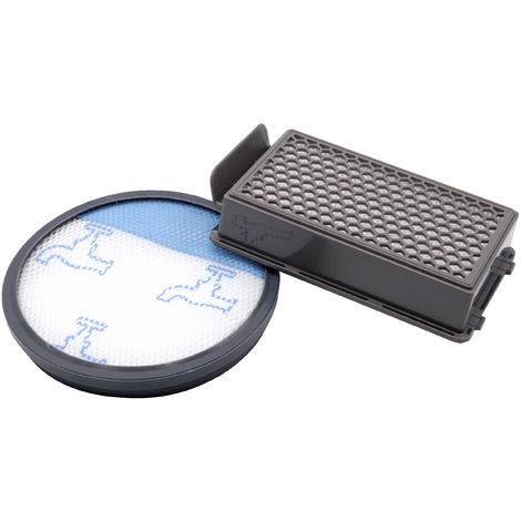 vhbw Set de 2 filtros para Moulinex MO3951PA, MO3953PA, MO3967PA, MO3969PA, MO3985PA. Aspirador hepa, filtro de aire de escape, filtro premotor