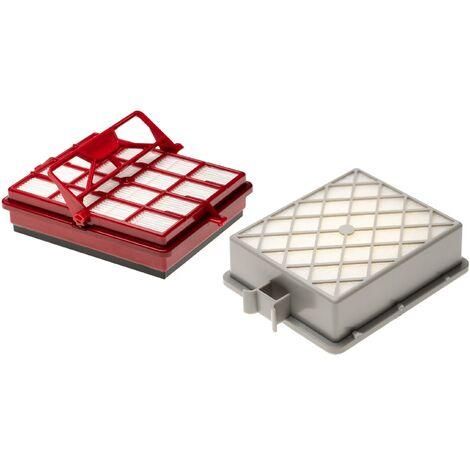 vhbw Set de 2x filtros de aspiradoras compatible con Lux AP11, Intelligence Series, S115 aspiradoras; filtro combi+ HEPA