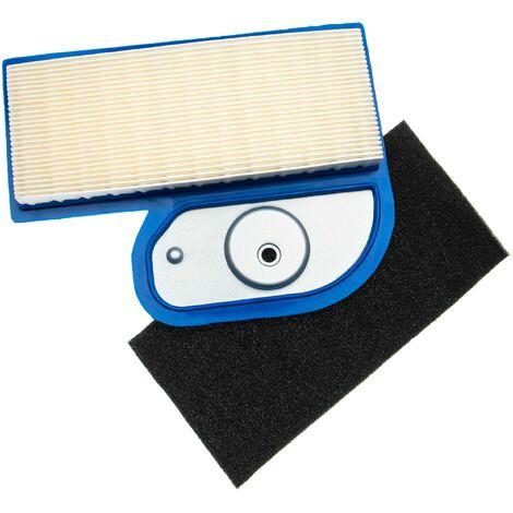 vhbw Set de filtres (1x filtre à air, 1x préfiltre) compatible avec Kawasaki FH451V moteur pour tracteur tondeuse, tracteur tondeuse