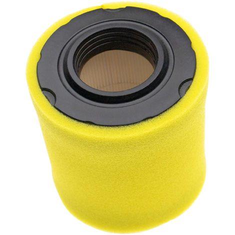 vhbw Set de filtres (1x filtre à air en papier, 1x filtre mousse) compatible avec Briggs & Stratton 21B807-0138-B1 moteur pour tracteur tondeuse