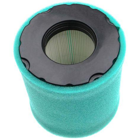 vhbw Set de filtres (1x filtre à air en papier, 1x filtre mousse) compatible avec Briggs & Stratton 44Q977-0110-G1 moteur pour tracteur tondeuse