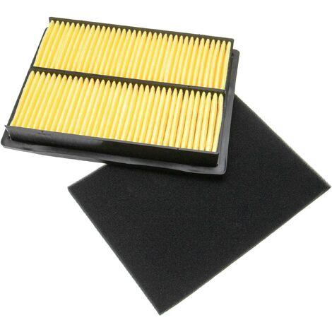 vhbw Set de filtros (1x filtro de aire, 1x prefiltro) compatible con Honda GXV670K1, GXV670U Motor para tractor de césped