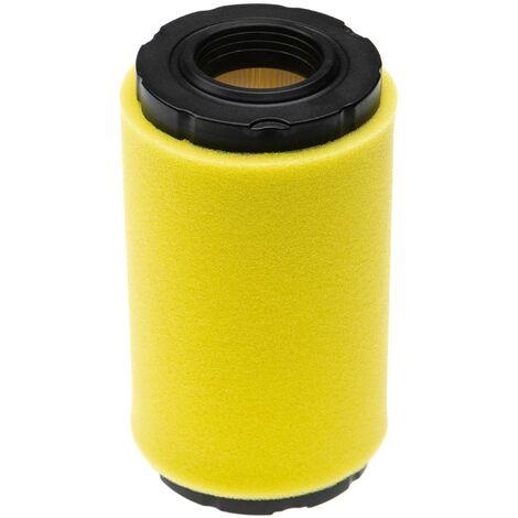 vhbw Set de filtros (1x filtro de aire, 1x prefiltro) compatible con John Deere D120, LA125 tractor de césped