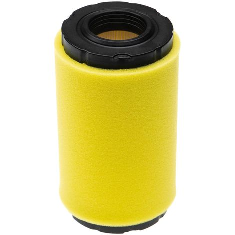 vhbw Set de filtros (1x filtro de aire, 1x prefiltro) reemplaza John Deere GY21055, MIU11511 para tractor de césped