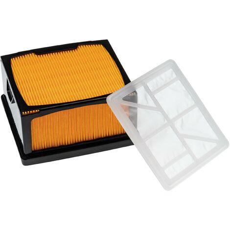 vhbw Set de filtros (1x filtro de nailon, 1x filtro de vellón) reemplaza Husqvarna/Partner 5743623-02, 574362301, 574362302 para radial, esmeril