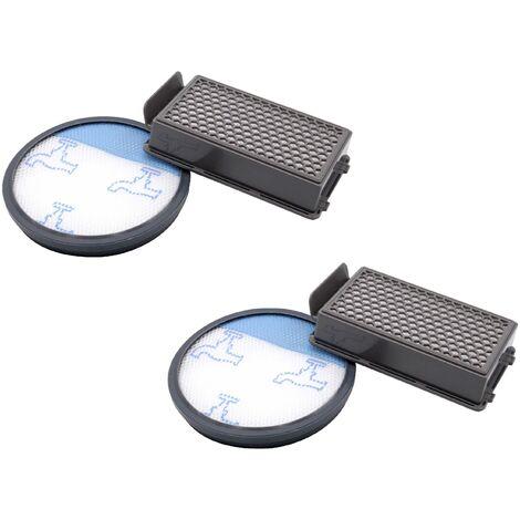 vhbw Set de filtros aspirador, 4 piezas, para Moulinex MO3718PA, MO3723PA, MO3751PA, MO3774PA, MO3786PA Aspirador hepa, filtro de aire de escape, ...