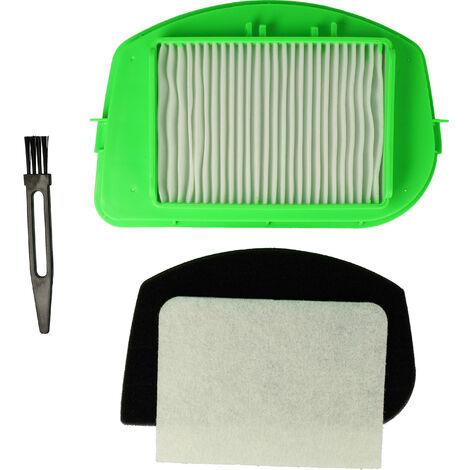 vhbw Set de filtros de aspirador compatible con Moulinex MO2423014Q0, MO2423PA/4Q0, MO2425PA4Q1 aspiradoras; Hepa + espuma + filtro micro