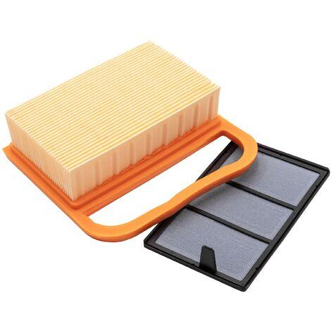 vhbw Set de filtros de repuesto para motosierra, cortadora Stihl TS420, TS480, TS500i; 9,1x 3x 4,2cm Filtro de aire, filtro de repuesto