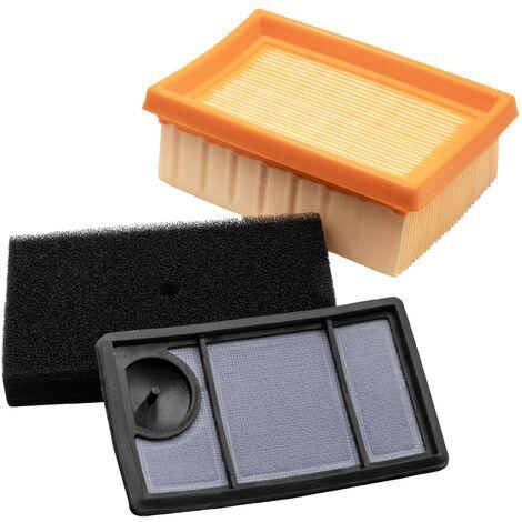vhbw Set de filtros de repuesto para motosierra Stihl 4223-140-1800, 4223-141-0300, 4223-141-0600; Filtro de aire, prefiltro, filtro adicional