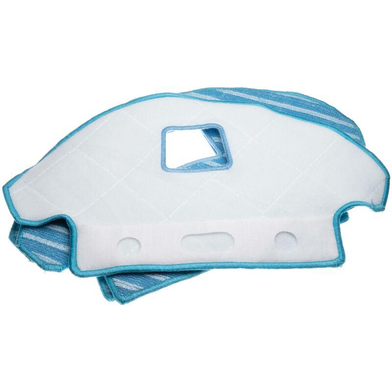 vhbw Set de limpieza (1x soporte, 3x paños de microfibra) compatible con Ecovacs Deebot Ozmo 930 robot aspiradora, robot limpiador, aspirador
