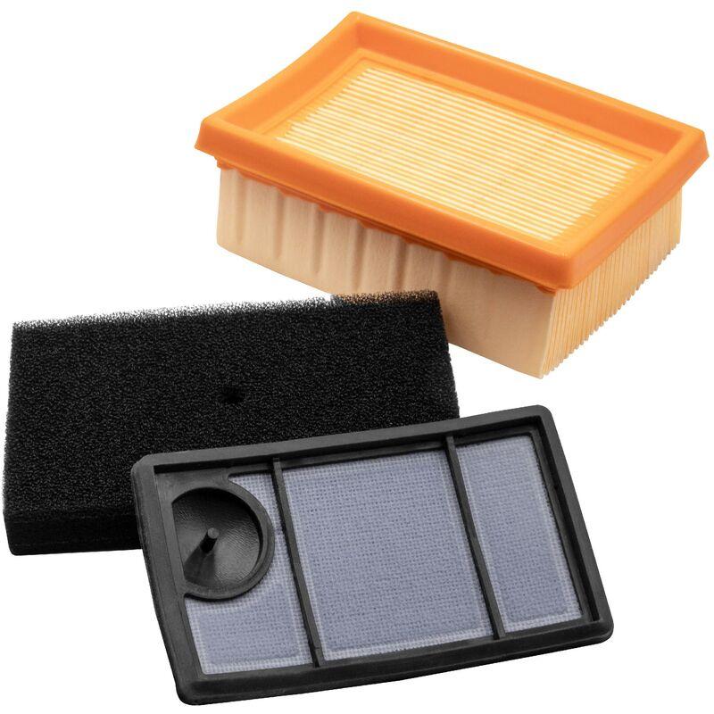vhbw Set filtri di ricambio per Stihl 4223-140-1800, 4223-141-0300, 4223-141-0600 per motoseghe e frese, Filtro aria, prefiltro, filtro di ricambio