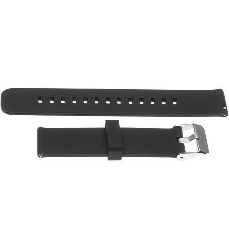 vhbw Silikon Ersatz-Armband schwarz 22mm für Smartwatch Fitness-Tracker Garmin Vivoactive3, Vivomove, Vivomove HR