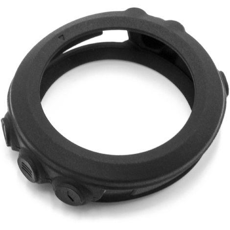 vhbw Silikon Ersatz-Hülle schwarz für Smartwatch Fitness-Tracker Garmin Tactix Bravo