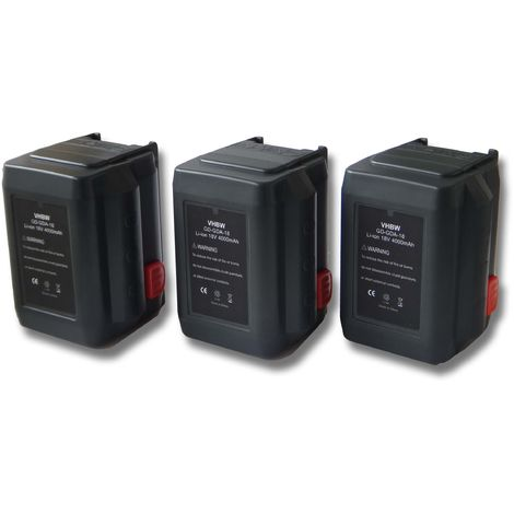 vhbw Sparset 3x Li-Ion batería 4000mAh (18V) para herramientas Gardena tijeras de podar Highcut 48-Li por 8835-U, 8835-20, 8839, 8839-20.