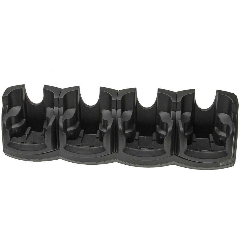 vhbw Station de charge 4 bornes compatible avec Symbol MC9090, MC9090-G, MC9090-K ordinateur mobile, scanner de code-barre- 12V ATX, connexion RJ45