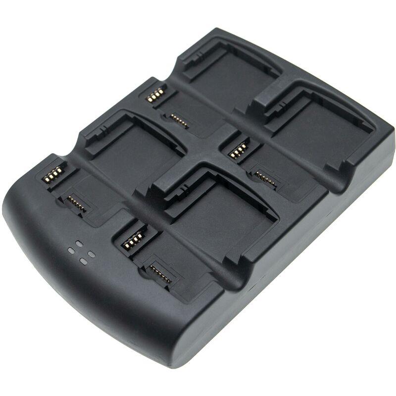 vhbw Station de chargement 4 bornes compatible avec Symbol MC3090S-DC48H00GER, MC3090S-IC28H00G-E ordinateur mobile, scanner de code-barre - noir