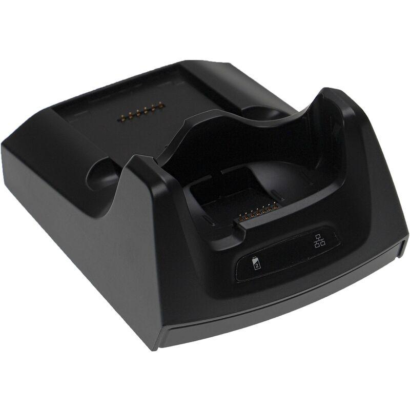 Station de chargement compatible avec Symbol MC70, MC7004, MC7090, MC75, MC7506, MC7596 ordinateur mobile, scanner de code-barre - noir - Vhbw
