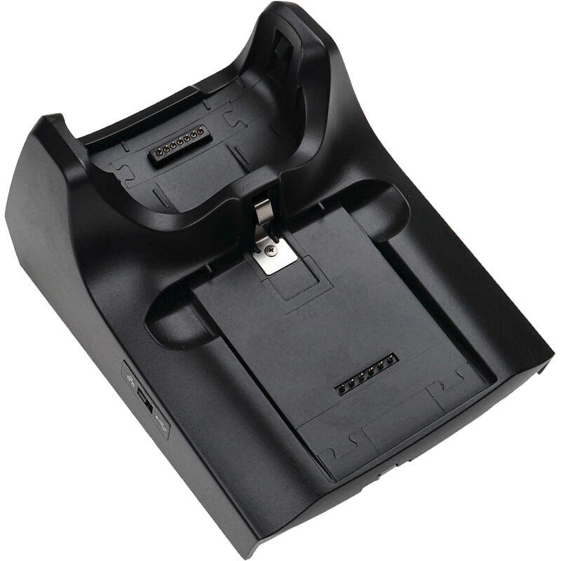 Station de chargement remplacement pour Symbol CRD5500-100, CRD5500-100UR pour ordinateur mobile, scanner de code-barre - noir - Vhbw