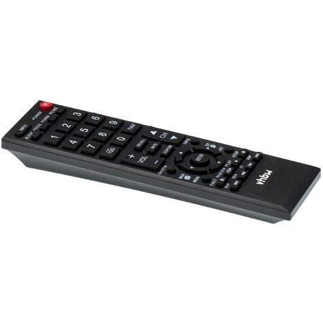 vhbw Télécommande compatible pour Toshiba 55S41, 55S41U, 55SL412, 55SL412U, 55SL412UB, 58L1350, 58L1350U télévision, TV - télécommande de rechange