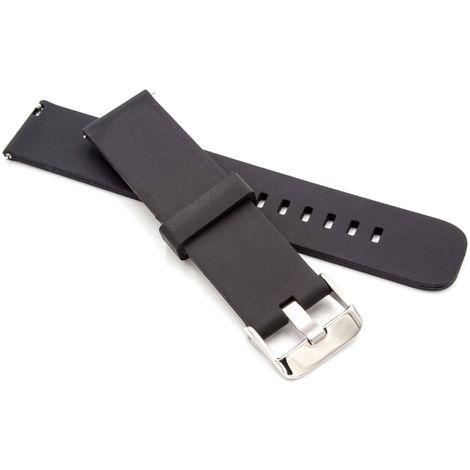 vhbw TPE wristband 12cm + 8.8cm compatible with Huami Amazfit Smart Watch - black