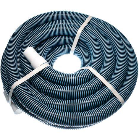 vhbw Tuyau flexible pour piscine raccord 32mm 11m pour skimmer, aspirateur, filtre - stabilisé UV, résistant au chlore