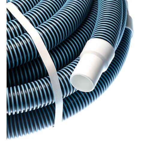 vhbw Tuyau flexible pour piscine raccord 32mm 15m pour skimmer, aspirateur, filtre - stabilisé UV, résistant au chlore