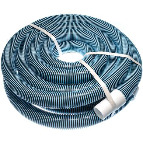 vhbw Tuyau flexible pour piscine raccord 38mm 7.6m pour skimmer, aspirateur, filtre - stabilisé UV, résistant au chlore