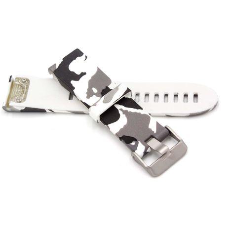 vhbw wristband 10.9cm + 8.4cm camouflage suitable for Garmin Fenix 5s Smart Watch - silicone grey