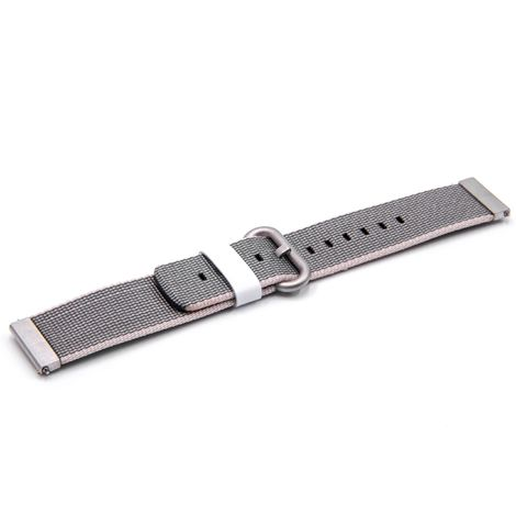 vhbw wristband compatible with Pebble Time Round Smart Watch - 10.7cm + 8.3cm nylon grey