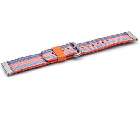 vhbw wristband compatible with Xiaomi Amazfit Smart Watch - 10.7cm + 8.3cm nylon blue / orange / red