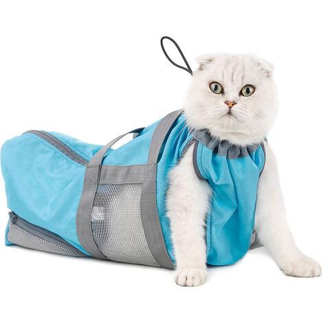 Viaje del gato perro mascota portador de la honda del perrito de manos libres al aire libre Bolso mascota portatil bolsa de recorte de unas y estetica de limpieza Restriccion bolsa, azul