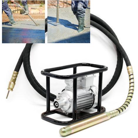 Vibrador hormigón eléctrico 45mm Vibrador botella interior Compactar hormigón Construcción Obra