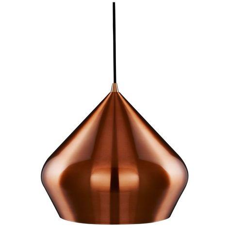 VIBRANT - 1 LIGHT PYRAMID PENDANT COPPER