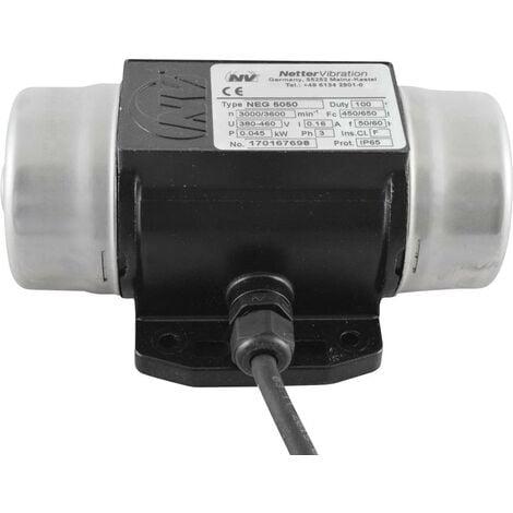 Vibrateur électrique Netter Vibration NEG 5050 400 V 3000 tr/min 450 N 0,045 kW 0,16 A 1 pc(s) S65335