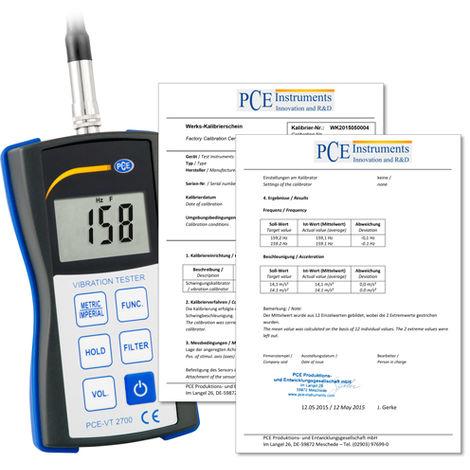 Vibromètre PCE Instruments PCE-VT 2700