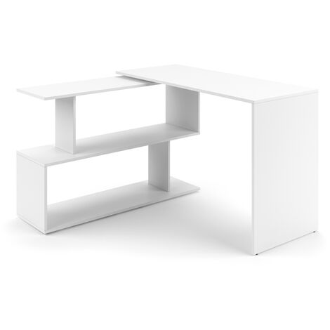 VICCO Eckschreibtisch LEVIA - PC Tisch Winkelkombi Arbeitstisch Computer Büro