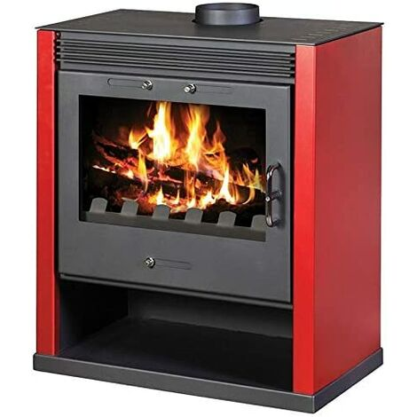 Victoria 05 Poêle à bois à combustible solide Rubin rouge 13 kW Design Eco Rouge