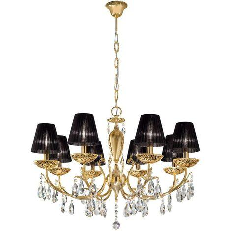 VICTORIA 2 Crystal Chandelier 24 Carat Gold 8 bulbs Albero Multi